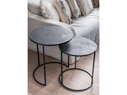 Kávový stolek s hrubou strukturou/antracit