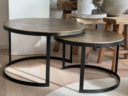 Konferenční stůl/starozlatá patina