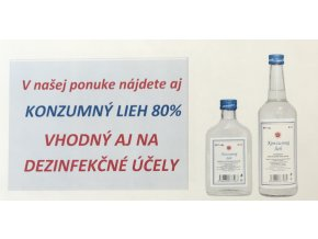 Konzumný lieh 80% 0,50l