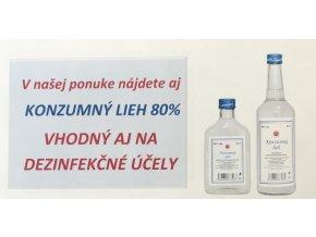 Konzumný lieh 80% 0,20l