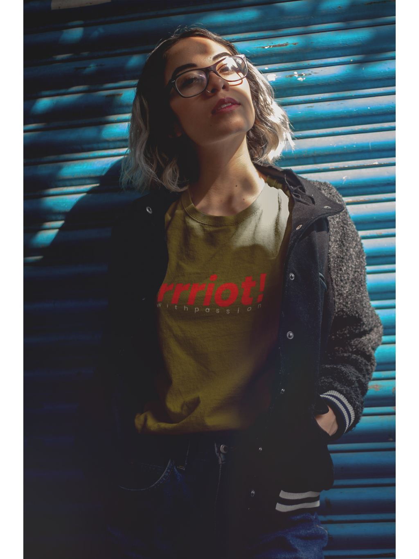tričko s potiskem riot british khaki front 01
