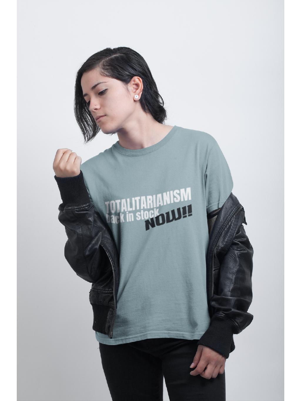 tričko s potiskem back in stock marian for president concrete blue 01