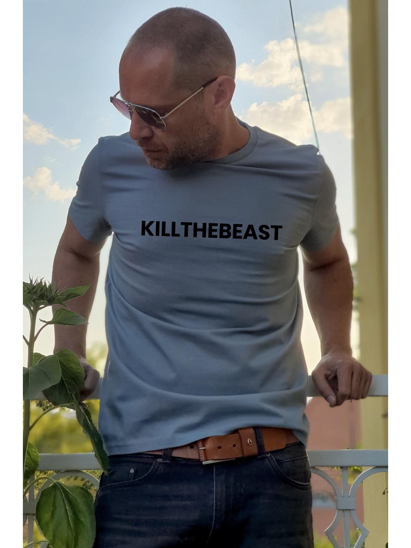 tričko s potiskem kill the beast blue mfp