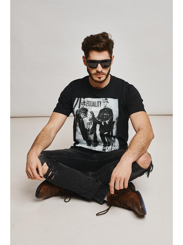 Marian For President tričko s potiskem sufražetky černé black