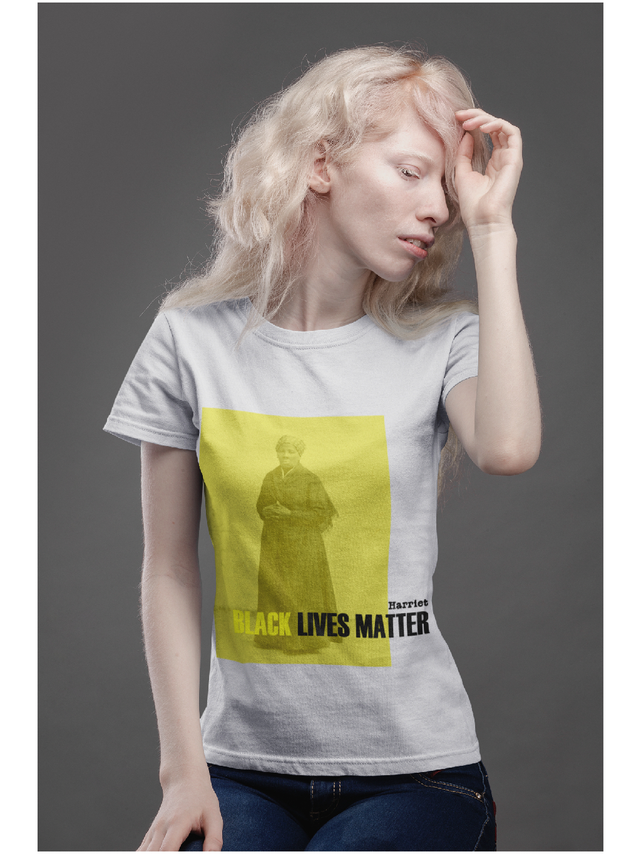 harriet tričko s potiskem bílé white marian for president production 01