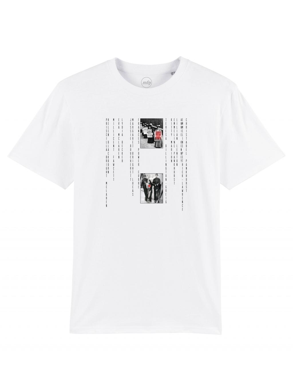 white sufra tričko s potiskem mfp