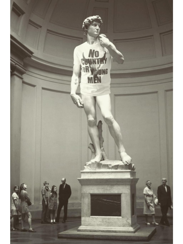 tričko s potiskem bílé no country for young men david