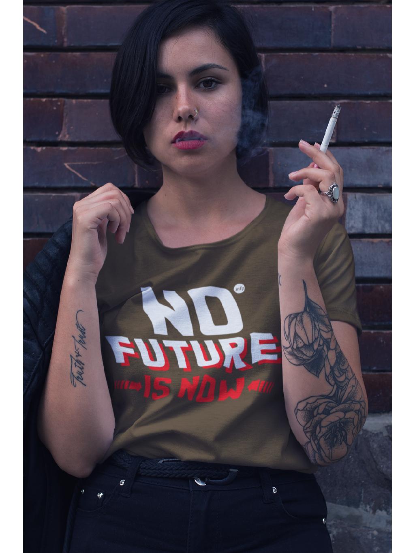 marian for president triko s potiskem khaki no future unisex 01