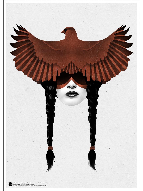 015 dark cardinal ruben ireland marian for president plakát poster koop mfp