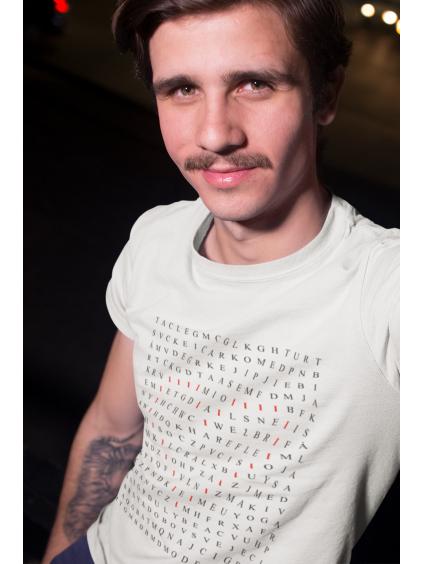tričko s potiskem osmisměr pozitiv white bílé 01