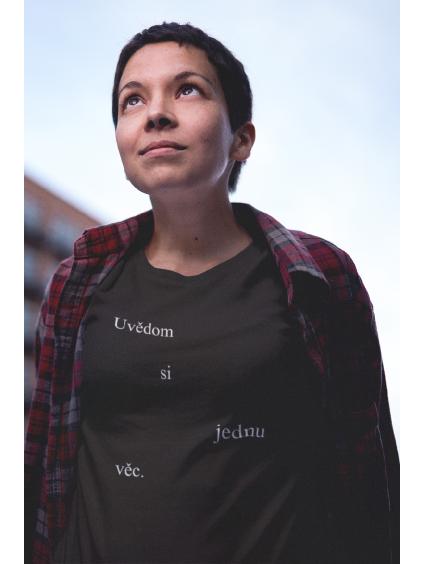 tričko s potiskem uvědom si jednu věc černé marian for president 01