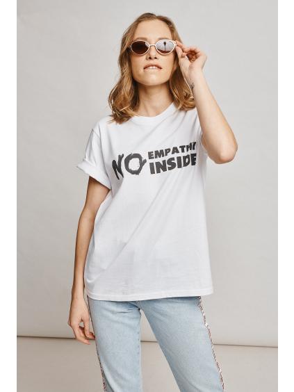 Marian For President triko s potiskem empathy bio bavlna white studio model