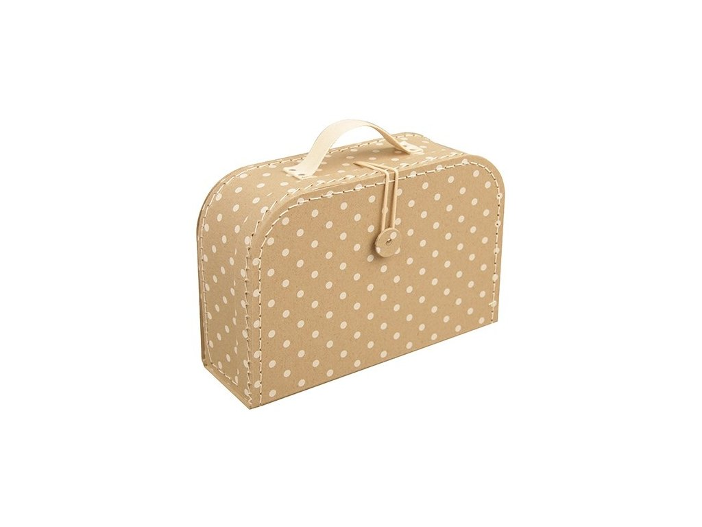 kazeto detsky kufrik s puntiky vel 20 cm 1