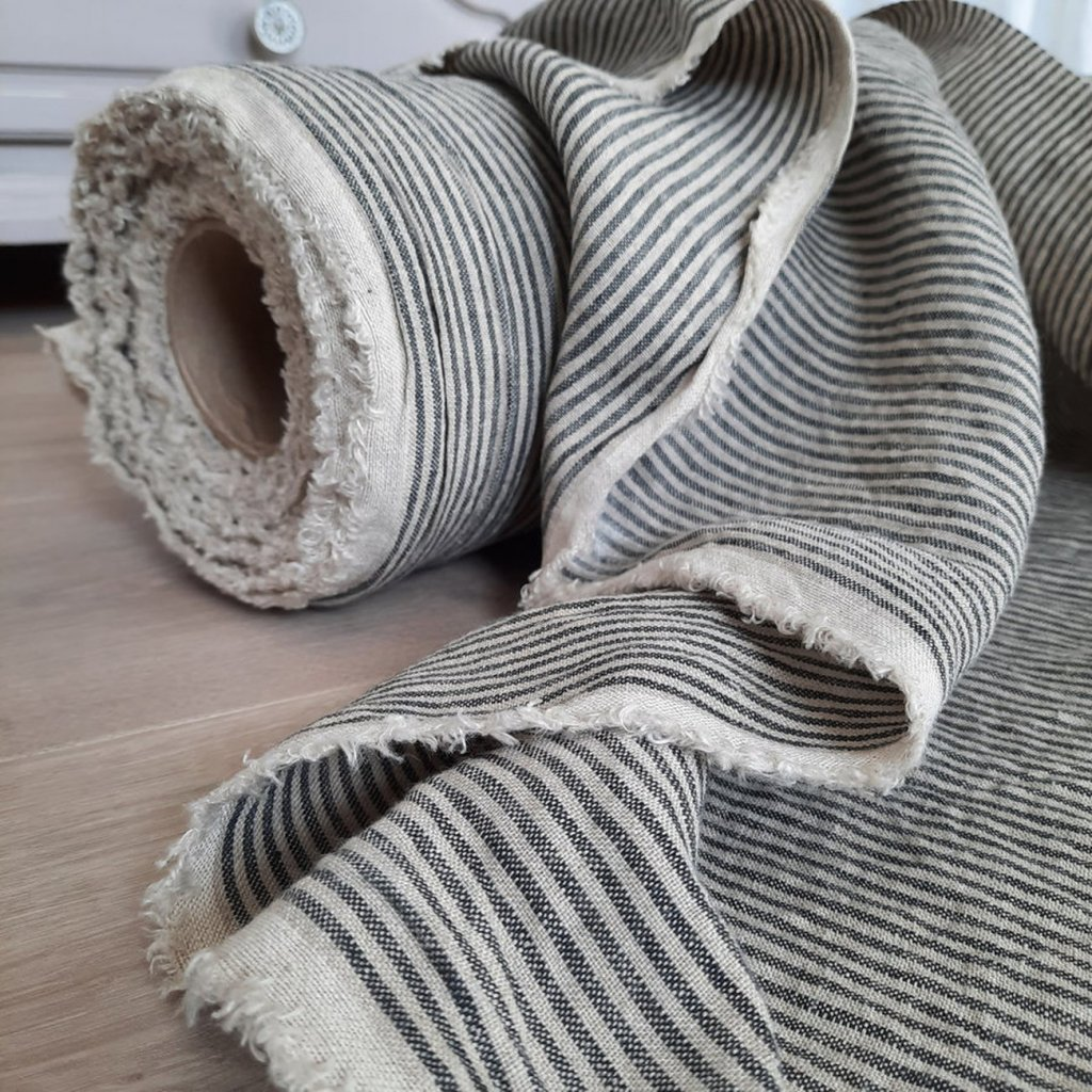 zbytek GREY/NATURAL stripes 163x40cm