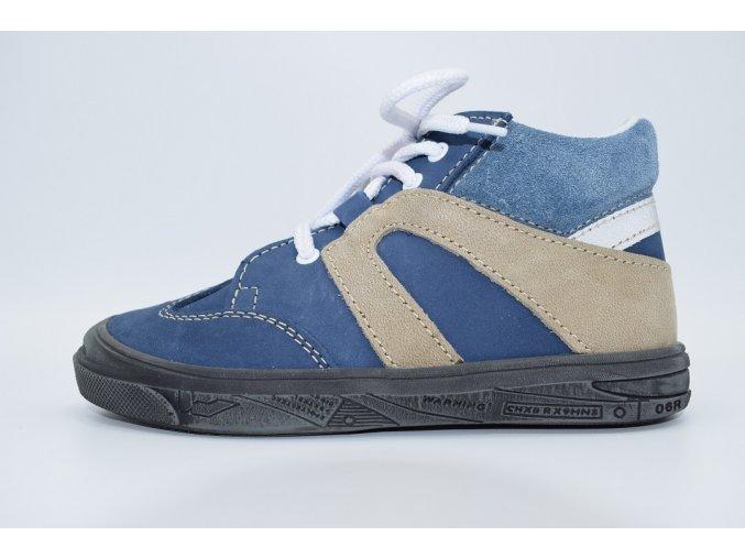 Dětská kotníková obuv T 815 Modrá béžová