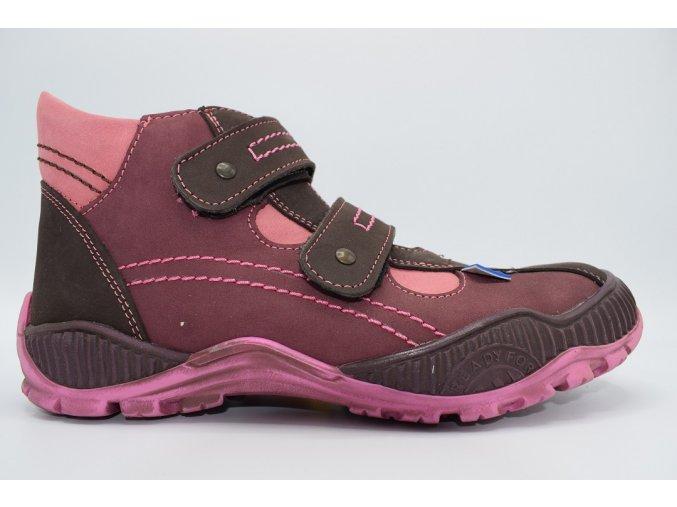 Dětská kotníková obuv E 1070 Bordo