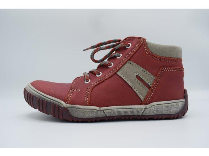 Dětská kotníková obuv T 315 Červená