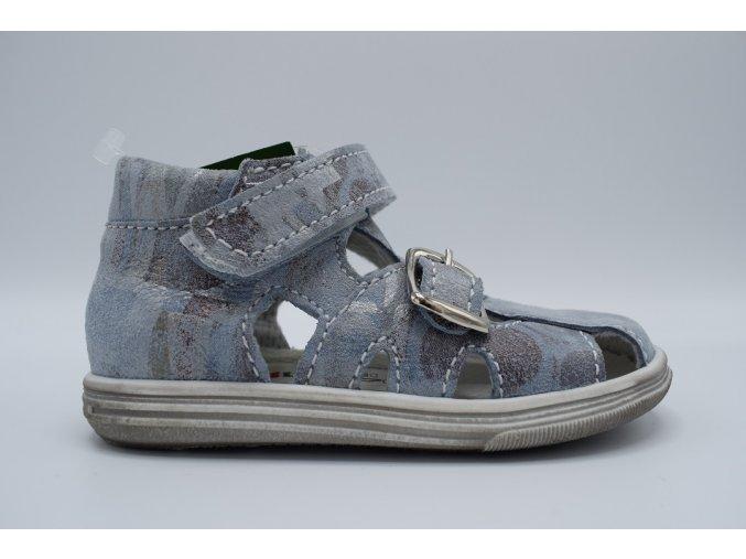 Dětský sandál T018 modrá potisk