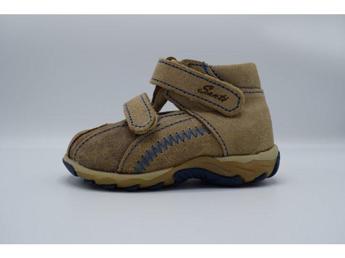 Dětský sandál N850/601 béžová modrá