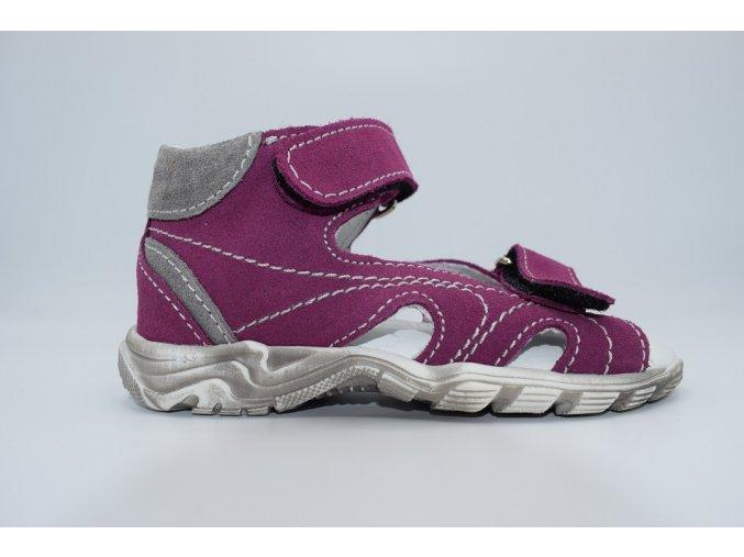 Dětský sandál T615 viola-šedá