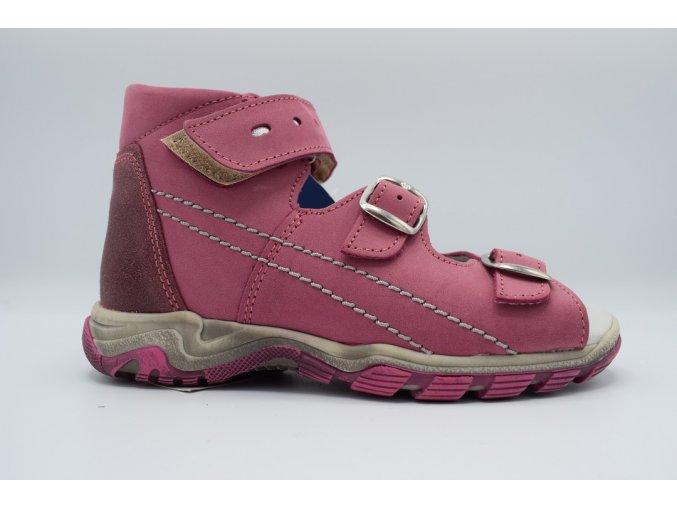 Dětský sandál S 7035 růžová prošívání
