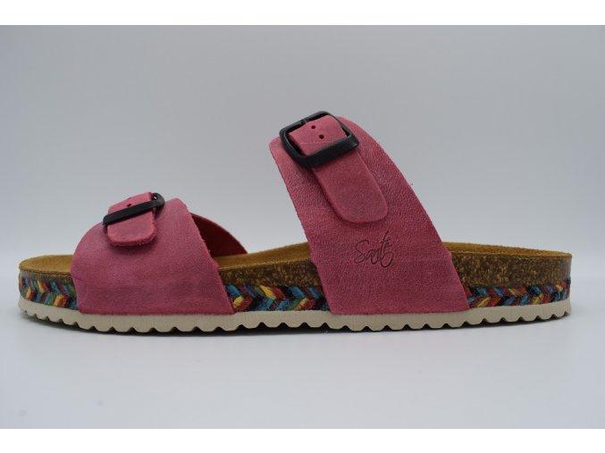 Dámská ortopedická pantofel IB/7211C růžová