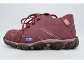 Dětská nízká obuv E 1247 Bordo