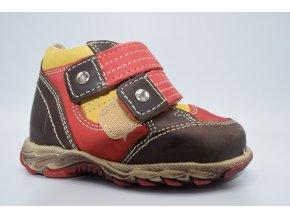 Dětská kotníková obuv 08051 žlutá - červená