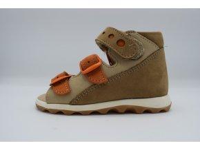 Dětský sandál E 6018 sandy oranž