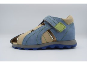 Dětský sandál D08002 modro-zelená