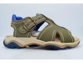 Dětský sandál E 6042 oliva
