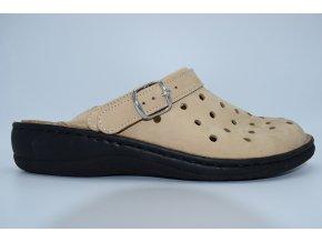 Dámský pantofel Nabuk Cappuccino 8767C