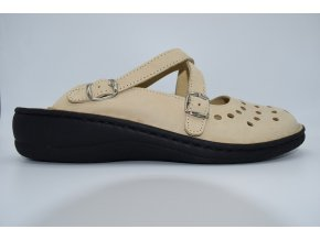 Dámský pantofel Leather Cappuccino 038-8808F