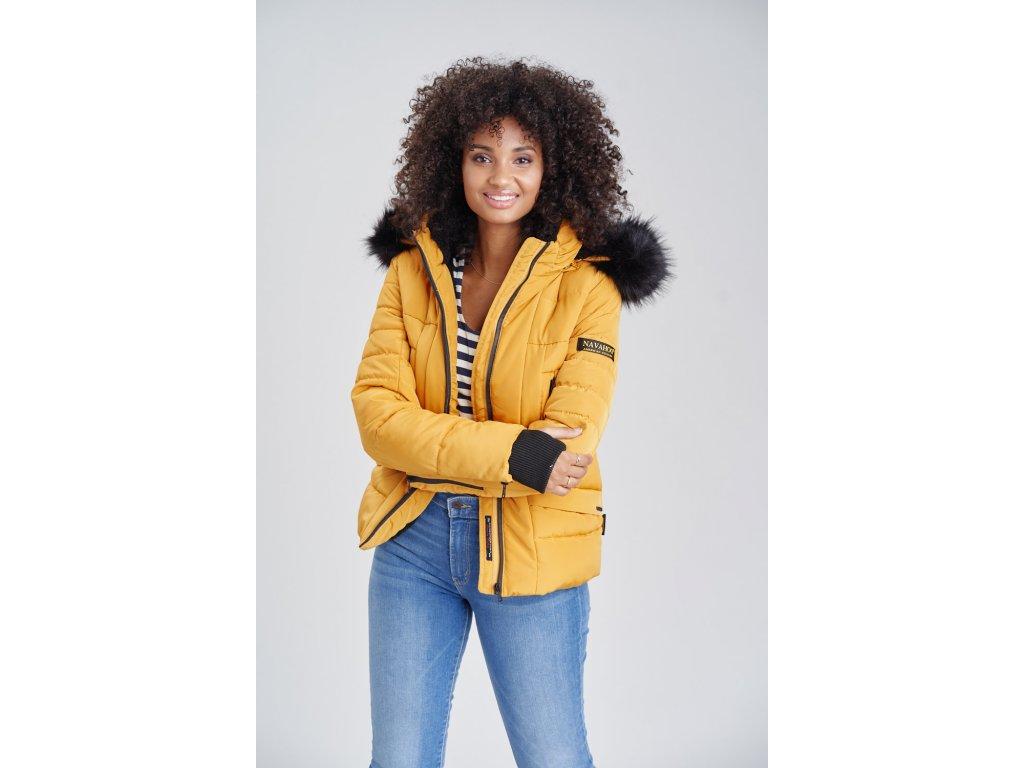 Dámska zimná bunda s kapucňou Adele Navahoo - YELLOW