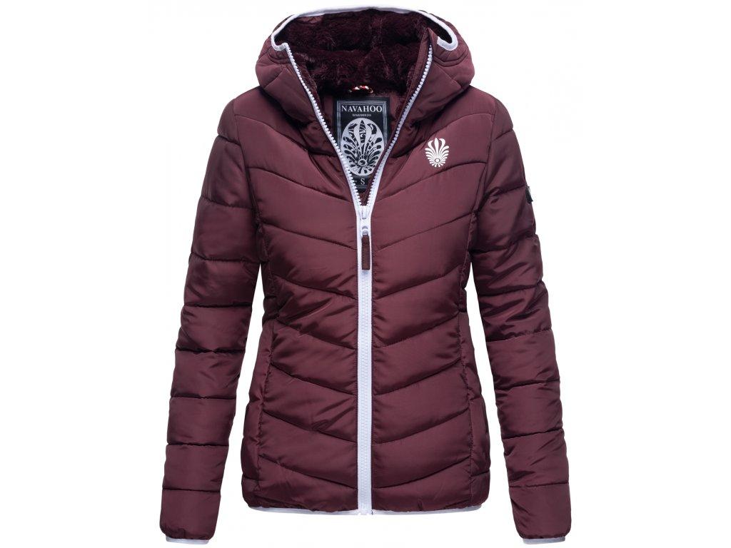 Dámska zimná bunda s kapucňou ELVA N-W-165 Navahoo - WINE