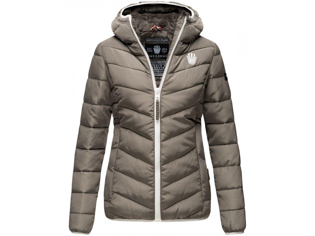 Dámska zimná bunda s kapucňou ELVA N-W-165 Navahoo - GREY