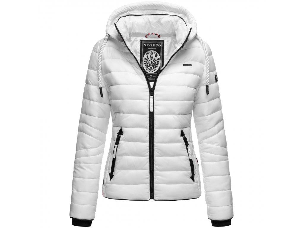 Dámska prešívaná bunda s odnímateľnou kapucňou Lulana Navahoo - WHITE