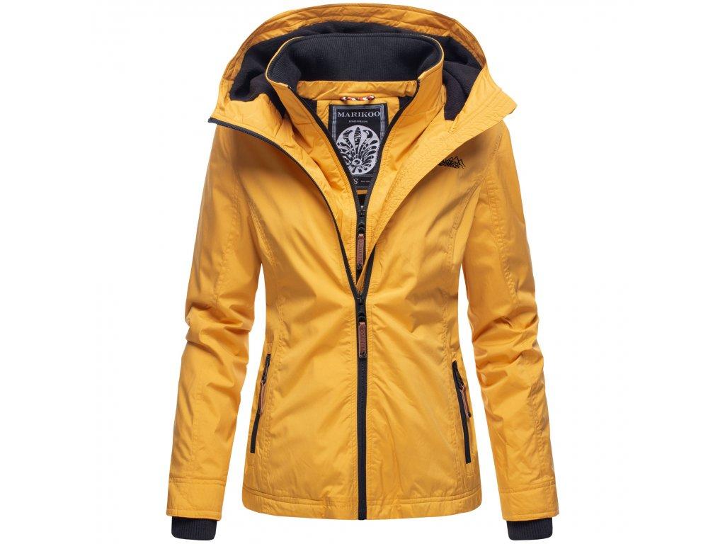 Dámska outdoorová bunda s kapucňou Eerdbeere Marikoo - YELLOW