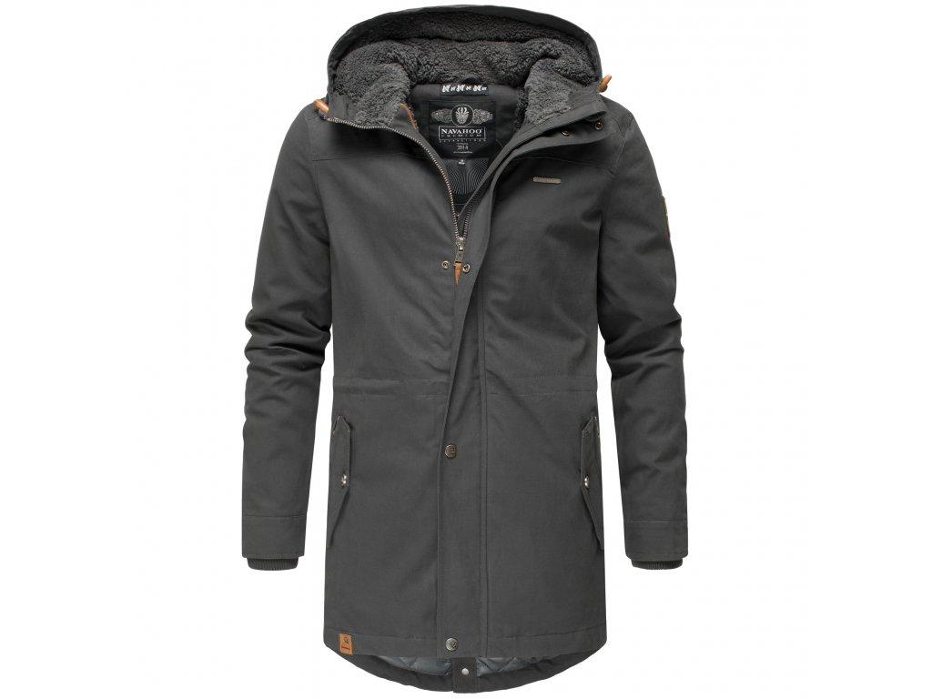 Zimný kabát / pánska zimná dlhá bunda Manakaa Marikoo - ANTRACITE