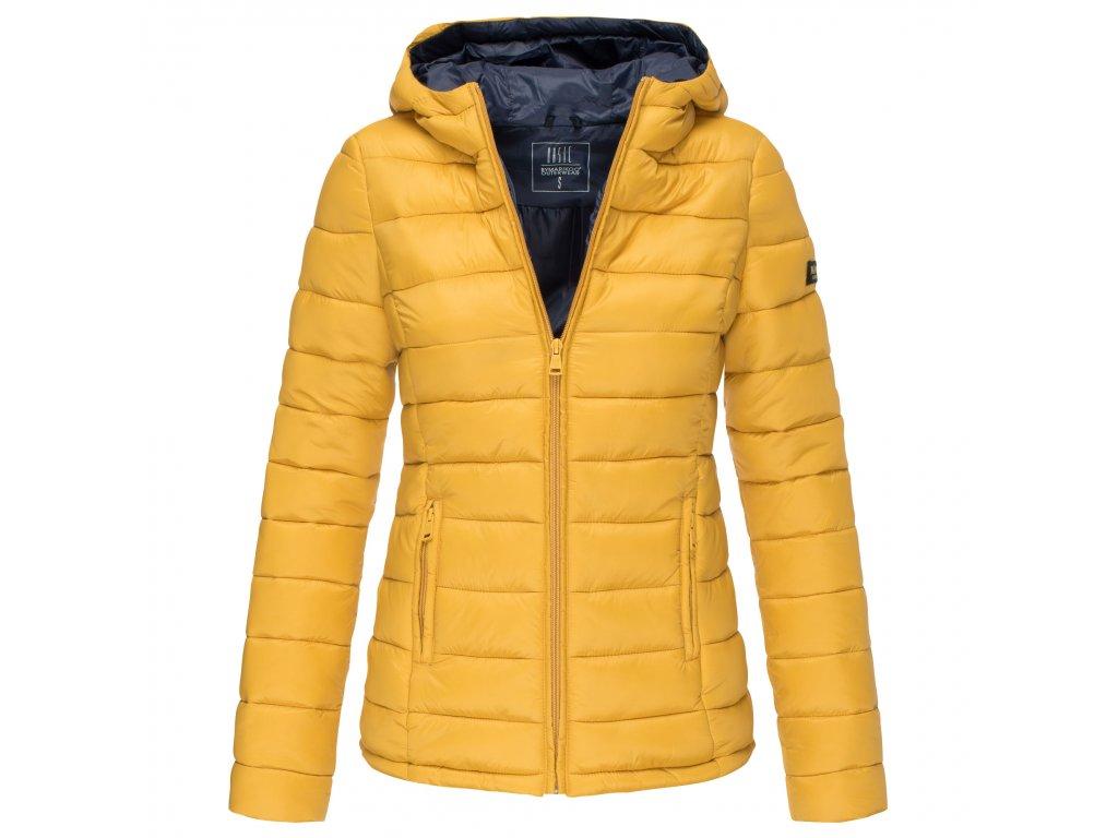 Dámska bunda s kapucňou Lucy Marikoo - YELLOW