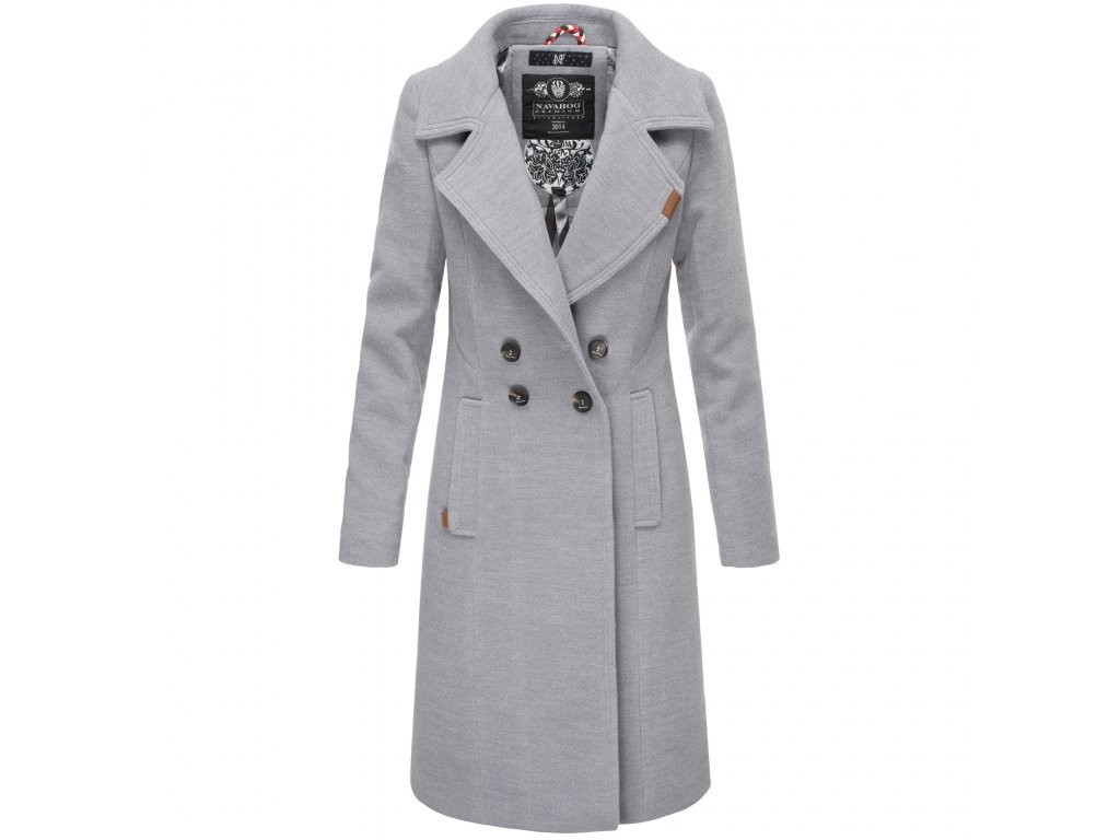 Dámsky zimný kabát Wooly Navahoo - LIGHT GREY