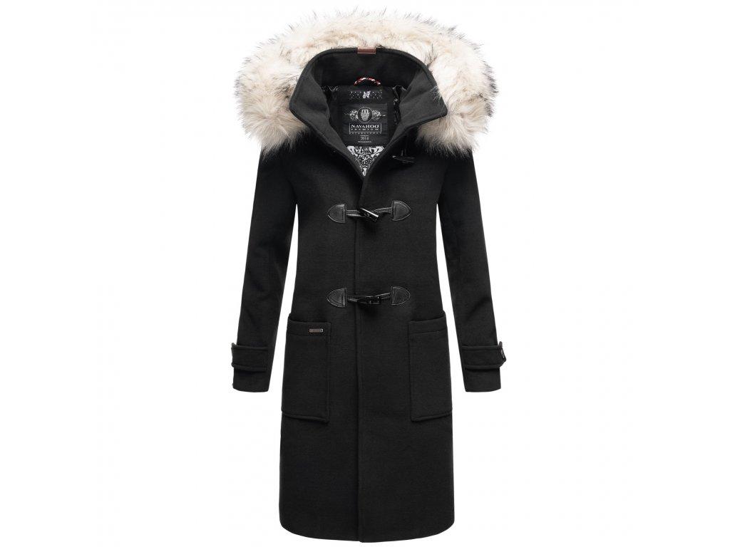 Štýlový dámsky kabát zimné Oksana Navahoo - BLACK