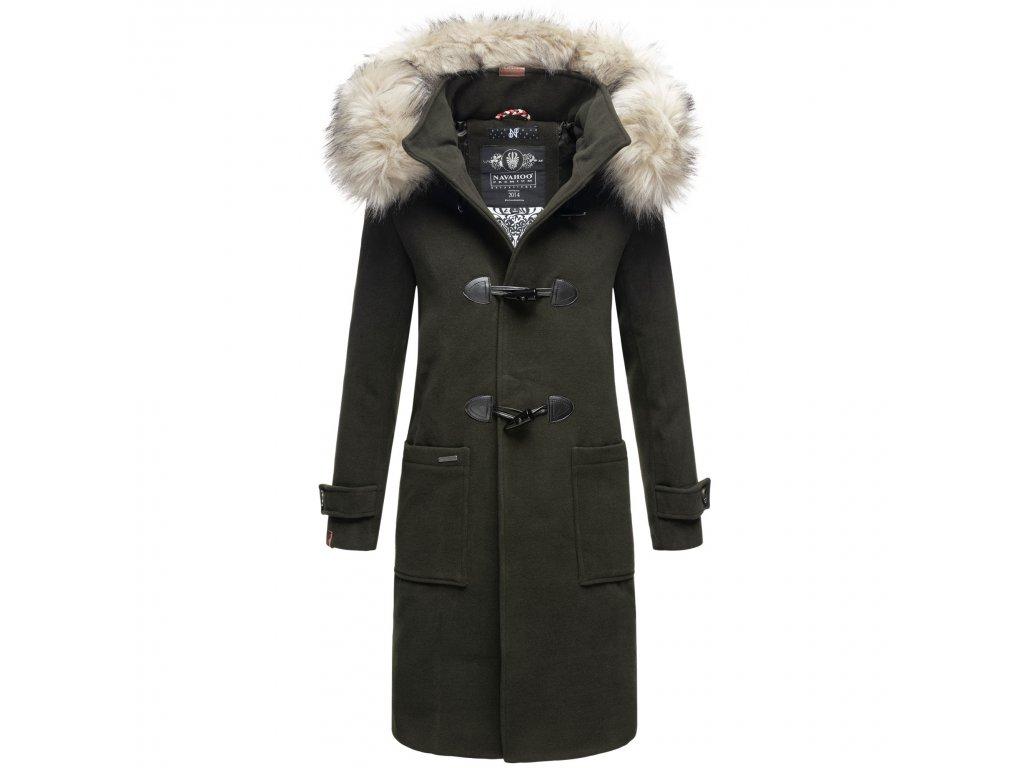 Štýlový dámsky kabát zimné Oksana Navahoo - DARK GREEN