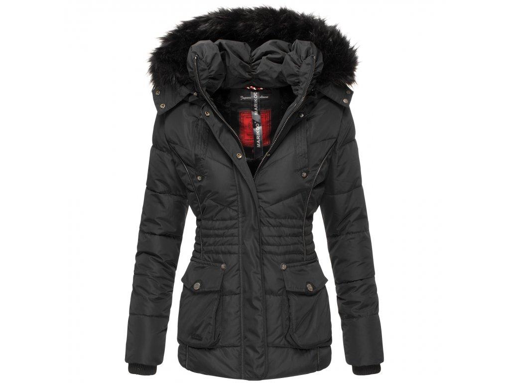 Dámska zimná bunda s kapucňou Vanilla Marikoo - BLACK