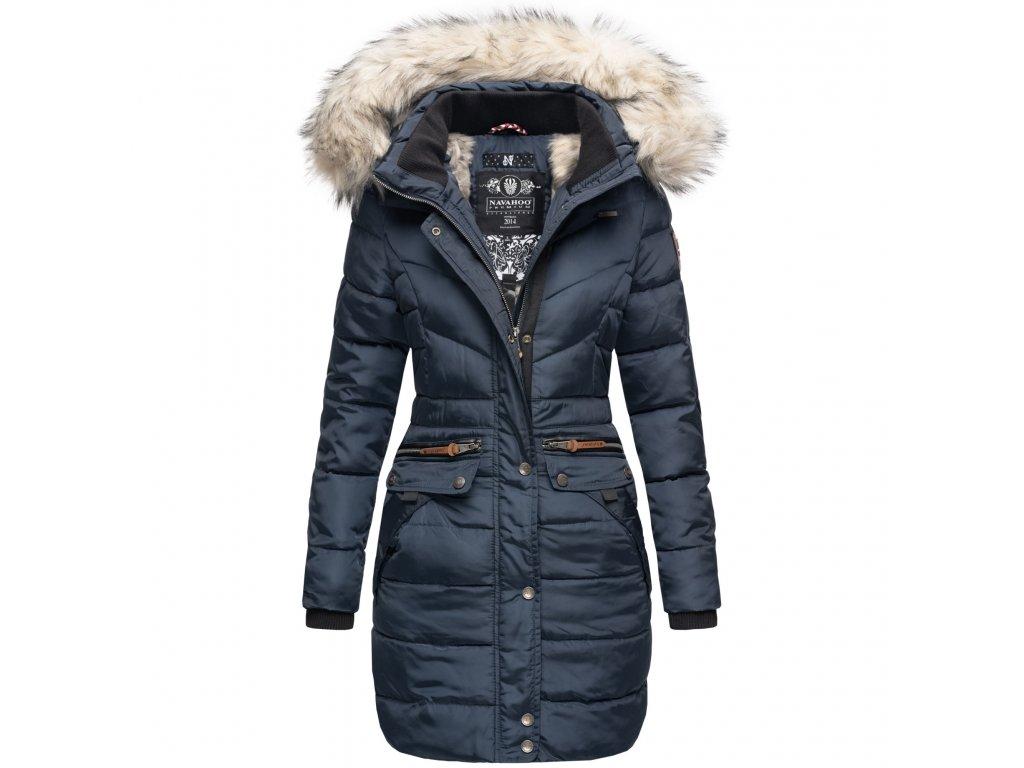 Dámska zimná dlhá bunda Paula Navahoo - BLUE