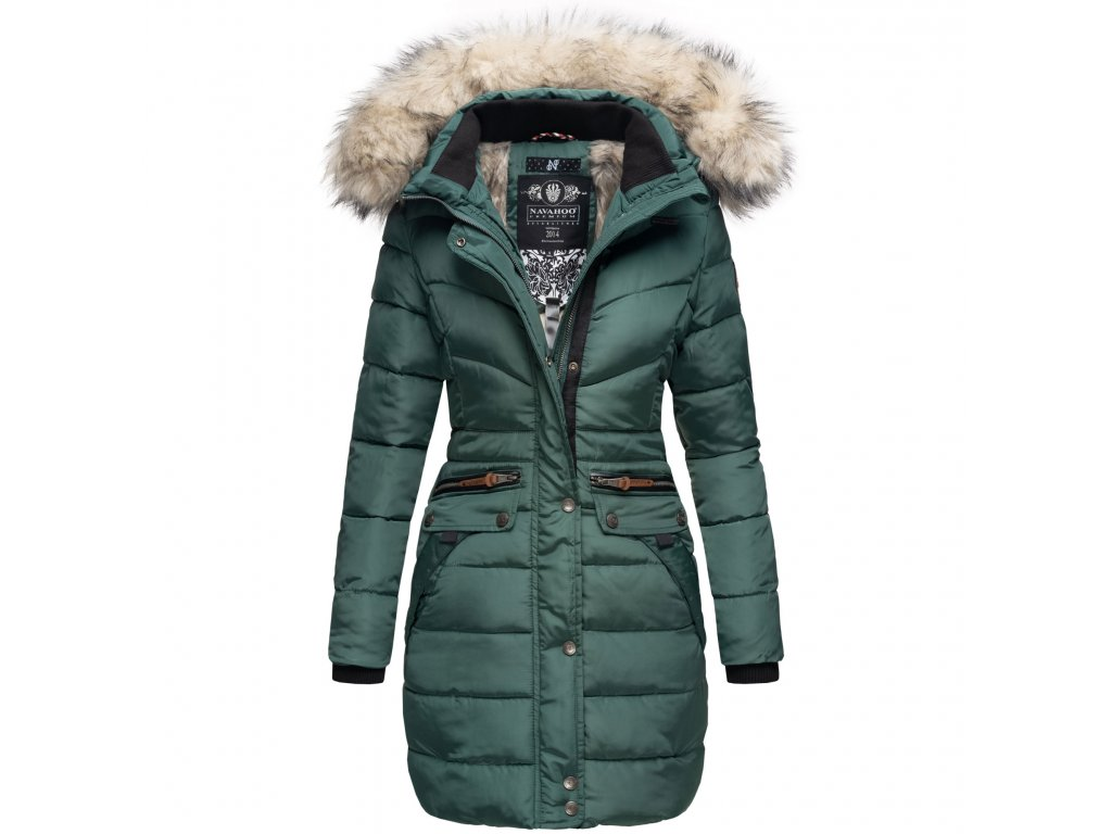 Dámska zimná dlhá bunda Paula Navahoo - GREEN