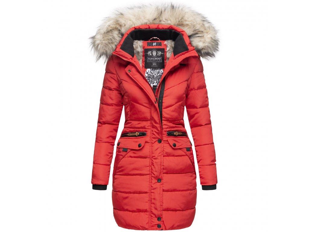 Dámska zimná dlhá bunda Paula Navahoo - RED