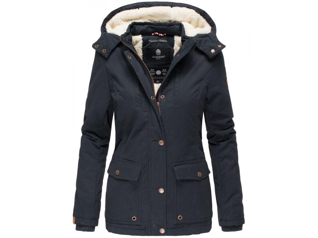 Dámska zimná bunda s kapucňou Keikoo Marikoo 2019 - NAVY