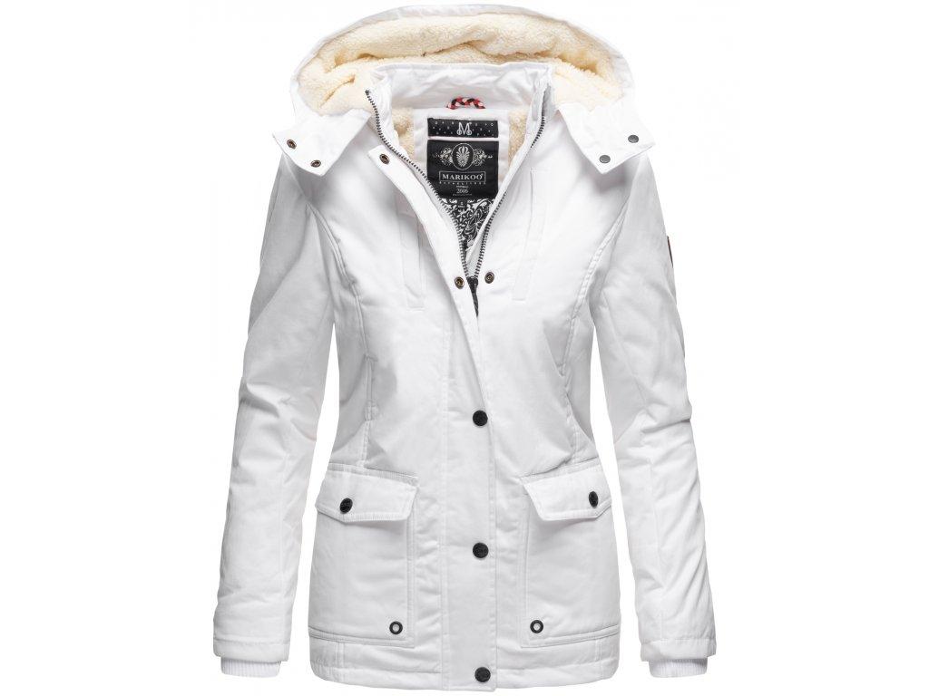 Dámska zimná bunda s kapucňou Keikoo Marikoo - WHITE