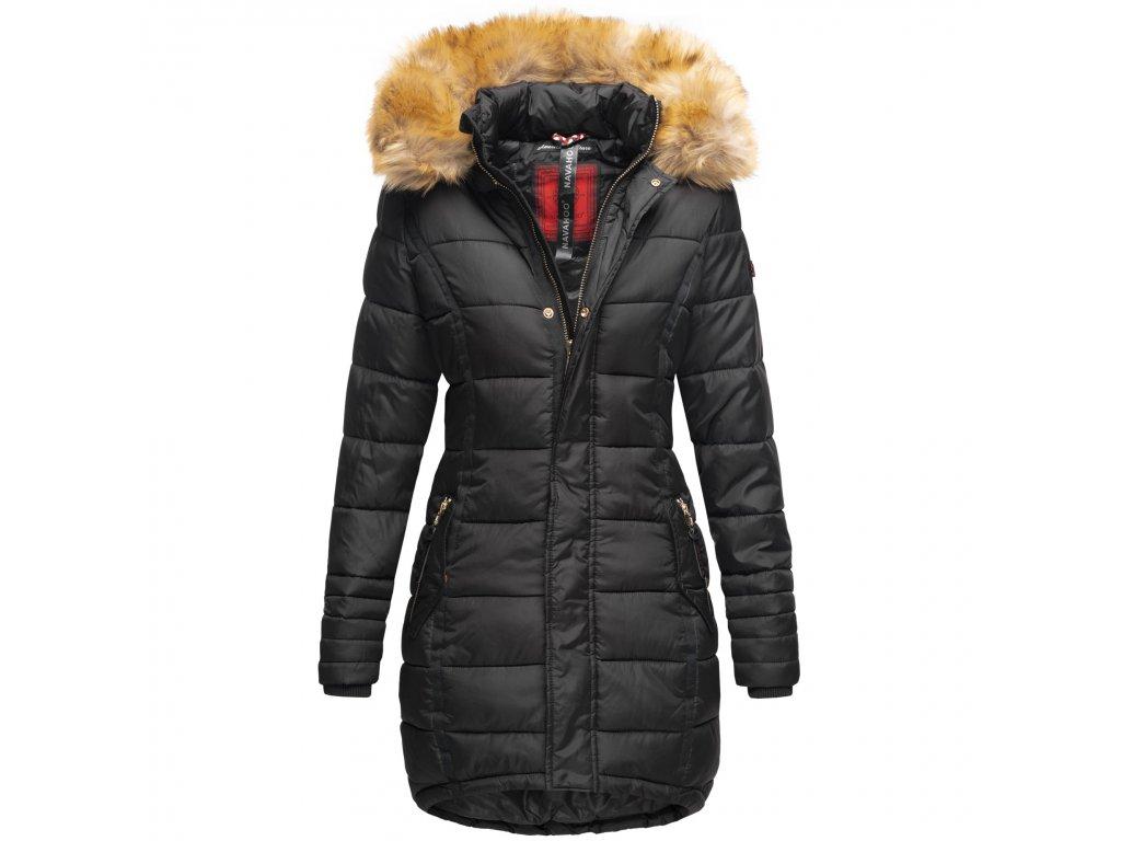 Dámska zimná bunda dlhá Papaya Navaho - BLACK